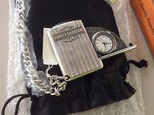 😄 Sehr Seltene silberne ? Harley Taschenuhr Klappbar Knucklehead 30er Jahre Ära