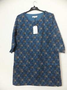 New Women's Seasalt Blue Port Gaverne 3/4 Sleeve Tunic Size UK 16R RRP £69.95