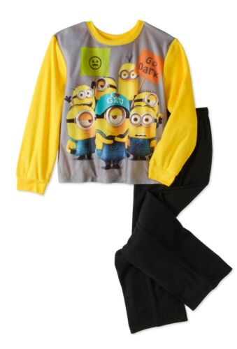 NEW DESPICABLE ME 3 BOYS FLANNEL SLEEPWEAR SET PAJAMAS MINIONS SIZE 8 OR 10//12