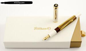 NEU-Pelikan-m200-Classic-Fuellfederhalter-weiss-Gold-Marmor-aus-2019-EF-F-M-B