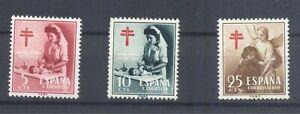 ESPANA-1953-NUEVO-MNH-SPAGNIEN-EDIFIL-1121-23-TUBERCULOSIS