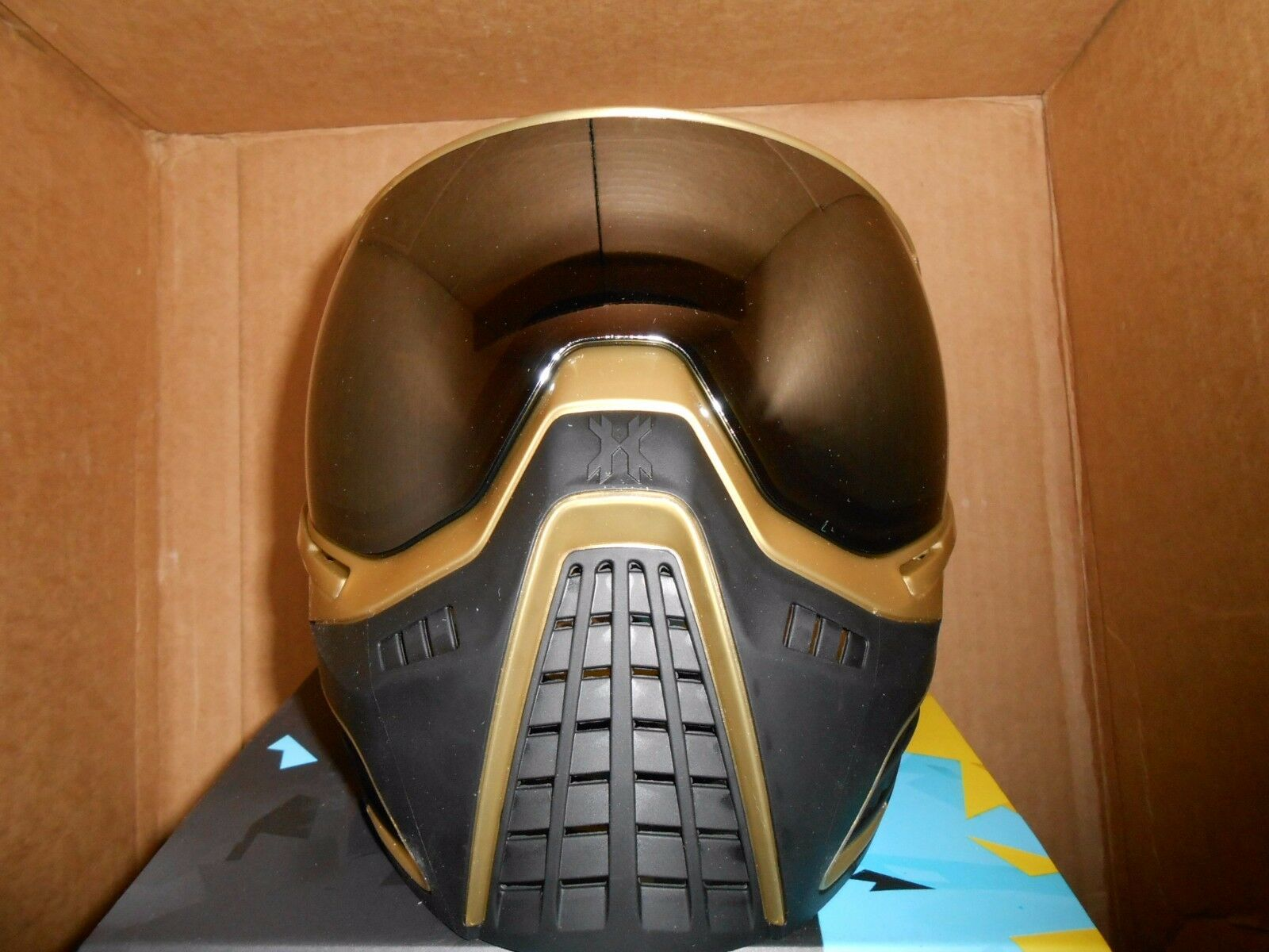 New HK Army KLR Thermal Mirage Paintball Goggles Mask - Gold w/ Mirage Thermal Chrome Lens 38710a