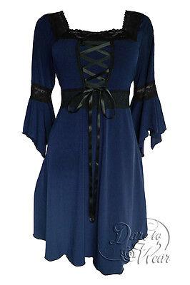 NWT RENAISSANCE GOTHIC CORSET BOHO WEDDING BLUE DRESS SIZE 16 /18 20 24 28 32