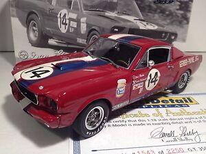 1:18 Exact Détail Voie - Dan Gerber 1965 Shelby Mustang #14 Gt 350 R