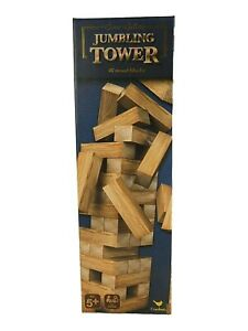 New Jumbling Tower Cardinal Game Gallery 48 Wood Blocks Boxed with Instruction