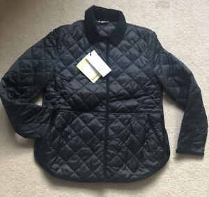 Barbour-Coat-Black-Quilted-Reworked-Liddlesdale-Jacket-UK-12-RRP-169-Women-039-s