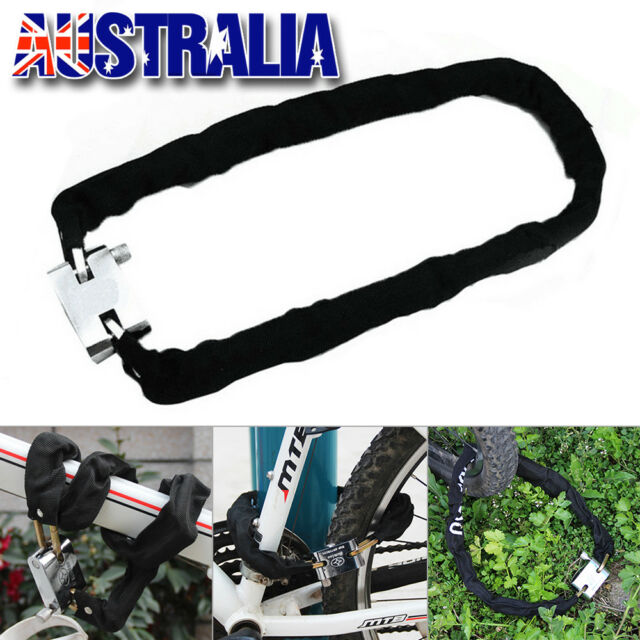 80cm Heavy Duty Chain Lock High Security Reinforced Metal for Motorcycle Bicycle