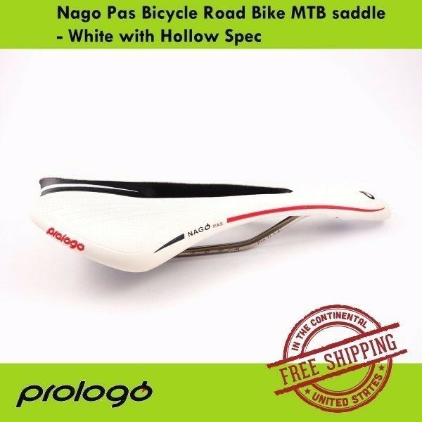 Prologo Nago Pas Cycle Saddle - White with Hollow Space Bike Seat Saddle MTB