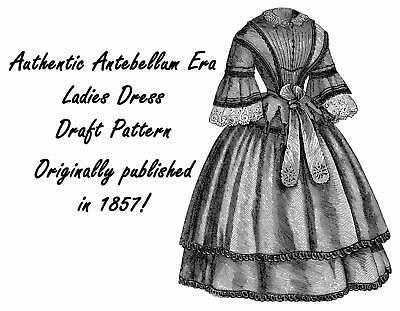 Antebellum Civil War Basque Jacket Draft Pattern 1857