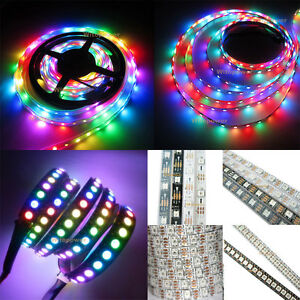 WS2812B-5050-RGB-LED-Strip-5M-150-300-Leds-144-60LED-M-Individual-Addressable-5V