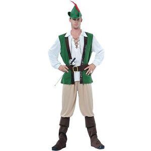 Nouveau Homme Adulte Livre jour personnage pirate Robin Hood CHEVALIER COSTUME ROBE FANTAISIE
