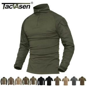 699398fa3 Image is loading TACVASEN-Mens-Tactical-Combat-Shirt-Military-Rapid-Assault-