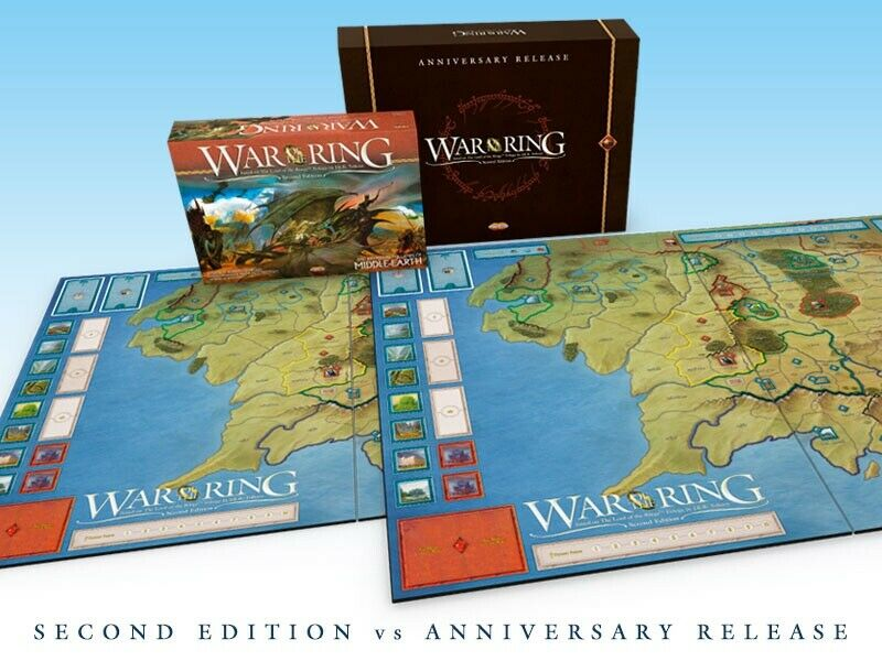 War of the Ring, Anniversary Edition 555533;.6533;DELUXE GAME BOARD (nieuw, ongeopend) \35;59 550