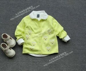 Girls-Spring-autumn-sweaters-Cotton-thin-section-coat-95-128CM-Swan-pattern
