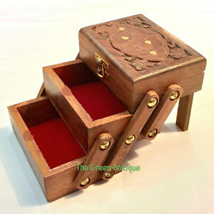 Wooden Box Beautiful Style Vintage Collectible Decorative
