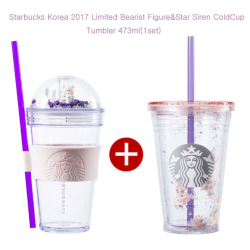 Starbucks Korea 2017 Limited Bearist Figure&Star Siren ColdCup Tumbler 473ml