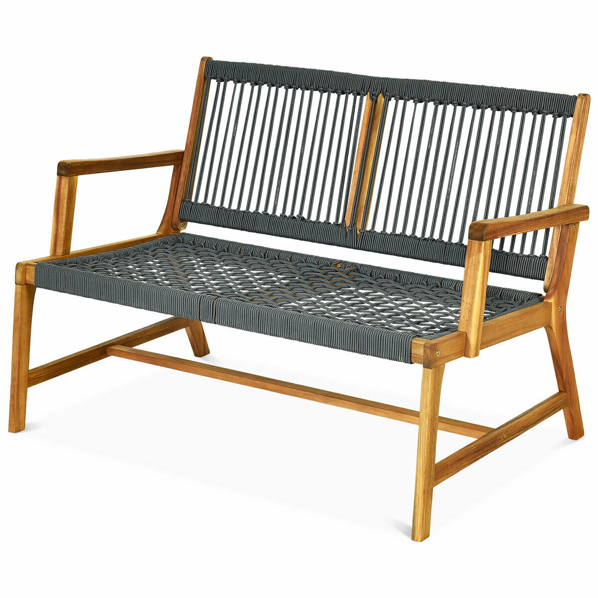 Picture of: Lifetime Wood Alternative Patio Glider Bench Outdoor Furniture Garden Porch Yard For Sale Online Ebay