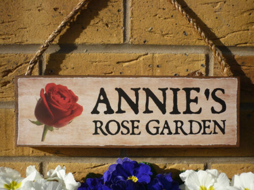PERSONALISED CHILL OUT SIGN GARDENERS SIGN OWN NAME SIGN YOUR NAME ROSES PLAQUE