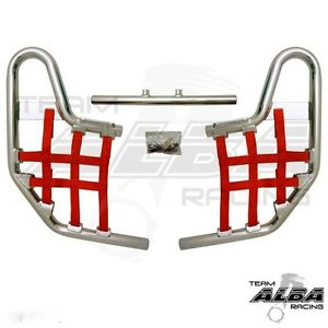 Aluminum Nerf Bars Red w//Black Nets Fits Honda TRX 250EX 2001-2014