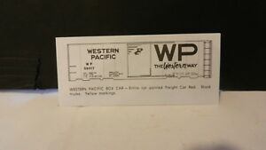 Champ-HO-Scale-Decal-Set-HB-350-Western-Pacific-Boxcar-NOS