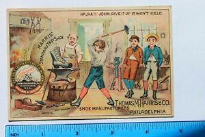Victorian trade card HARRIS STANDARD TIP SHOE, THOMAS M HARRIS & CO PHILADELPHIA