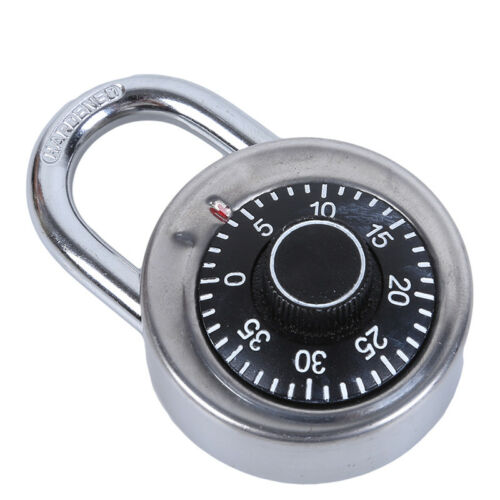 Combination Lock Dial Padlock Hardened Gym Locker Bike School Travel 6A