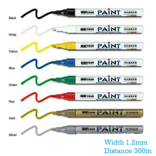Universal Waterproof Permanent Paint Pen Oil Marker for Car Tyres Arts /& Crafts