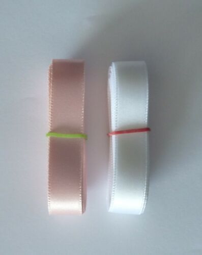 Satin Ballet Ribbon Pink enough for 1 pair shoes White or Black 2.25m long
