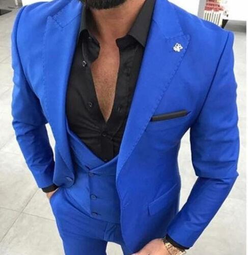 Business Designer Weste Tailliert Hose 48 Fit Royal Blau Slim Sakko Herrenanzug Sq4qwdU