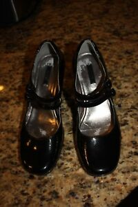 ECCO-Black-Patent-Leather-Mary-Jane-37-Eur-6-5-US