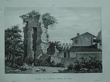 1845 Zuccagni-Orlandini Vedute di Avanzi di Antiche Terme di Pisa