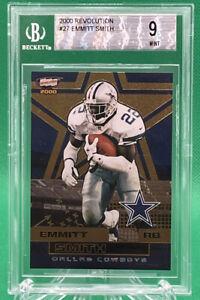 2000 Revolution Emmitt Smith #27 🔥 BGS 9 🔥 HOF Dallas Cowboys