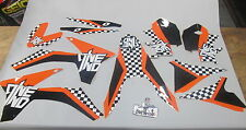 KTM SX/SXF 125-450 2011-2012 One Industries Checkers graphics kit 1G48