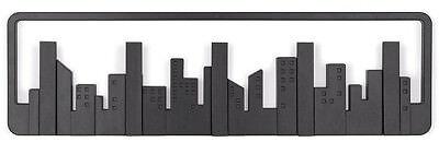 GemäßIgt Multi Hook Black Skyline TÜrgardeobe Hakenleiste Wandgarderobe Haken Schwarz Garderoben Büromöbel