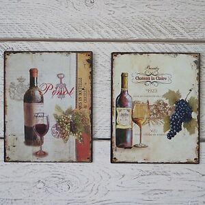 Vintage-Frances-metal-Placa-Chateau-la-claire-O-Pinot-Rojo-Blanco-Vino