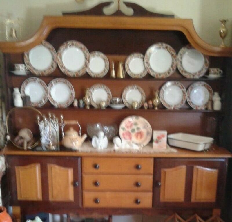 Antique Side Dresser (Imbuia & Yellow Wood) For Sale