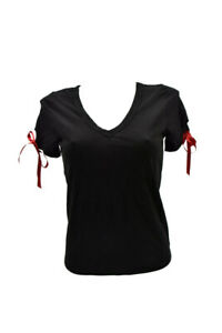 Agent-Provocateur-Womens-Side-Ribbons-Top-Skinny-Black-Size-XS