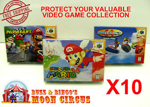 10x-NINTENDO-64-N64-CIB-GAME-BOX-CLEAR-PROTECTIVE-BOX-PROTECTOR-SLEEVE-CASE