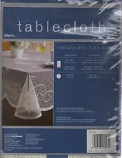 """NEW IVORY LACE JEWISH/STAR OF DAVID TABLECLOTH (60""""X84"""" OBLONG OR OVAL)"""