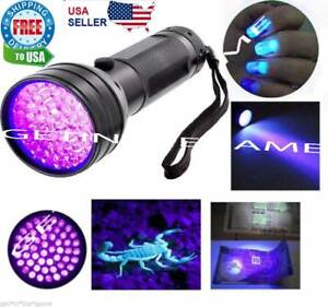 UV-Ultra-Violet-51-LED-Flashlight-Blacklight-Light-395-nM-Inspection-Lamp-Torch