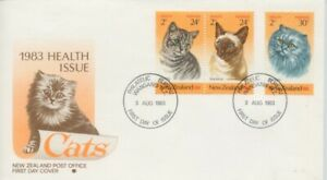 NEW-ZEALAND-1983-Health-Cats-FDC-unaddressed-D1903