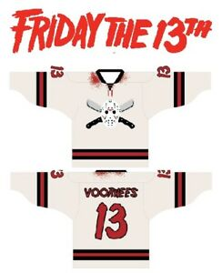 JASON VOORHEES HOCKEY JERSEY M sz 44 MEDIUM friday the 13th halloween