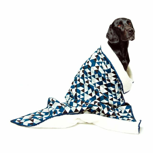 Mog & Bone Dog Blanket Blue Diamond