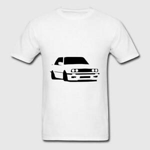 0ed0b1a8347 BMW T Shirt Men Short Sleeve Cotton BMW E46 E30 Oldschool Logo White ...