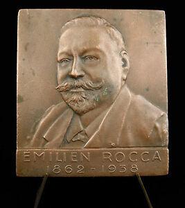 Medal-Emilien-Rocca-1868-1938-Sc-Darrigan-64-mm-by-48-mm-Medal