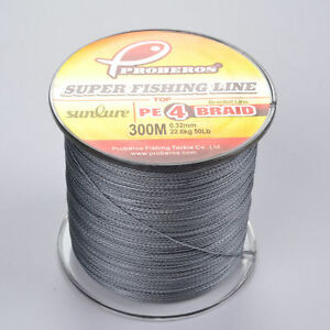 1pcs 300M Meter braided line Gray Fishing Line 50LB PE Line Strong Strands Wire