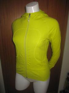 LULULEMON-Athletica-womens-Hoodie-Zip-Up-Jacket-yoga-shirt-size-4-Lime-Green
