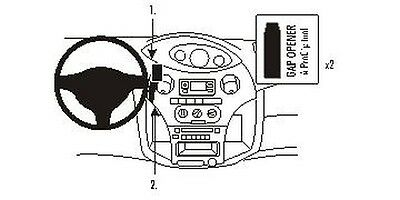 Brodit ProClip Mounting Console for Toyota Yaris Year 2003-2006 [853381]
