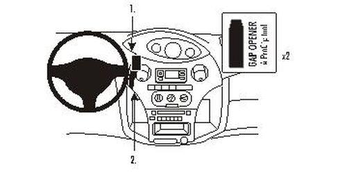 Brodit ProClip 853381 Montagekonsole für Toyota Yaris Baujahr 2003-2005