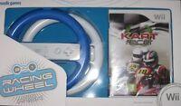 Nintendo Wii Spiel Kart Racer + 2 Lenkräder Lenkrad Neu
